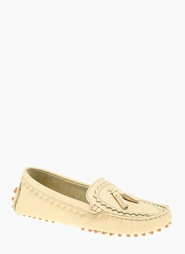 Divarese %100 Deri Loafer Ayakkabı Sarı